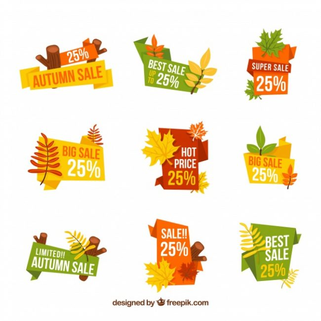 Free vector Collection of autumn sale sticker #23077