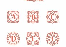 Free vector Collection of beautiful hand drawn monograms  #20407