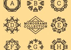 Free vector Collection of decorative monogram in vintage style #19966