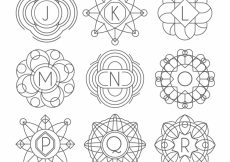Free vector Collection of hand drawn monograms  #20409
