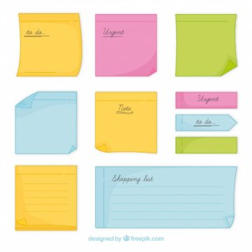 Free vector Collection of hand drawn sticky note #20245