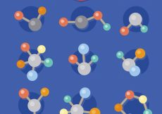 Free vector Collection of molecule in flat design #22139