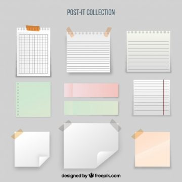 Free vector Collection of sticky note and sheets #20231