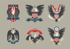 Free vector Colored Eagle Seal Logo Patch Vector #21447