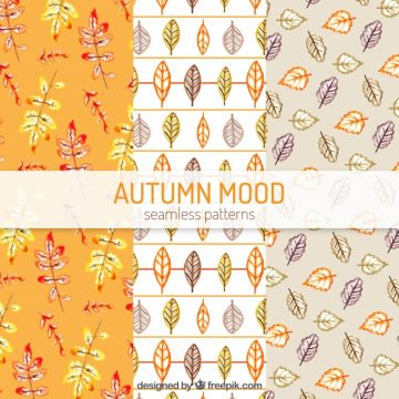 Free vector Colorful autumn patterns with modern style #22543