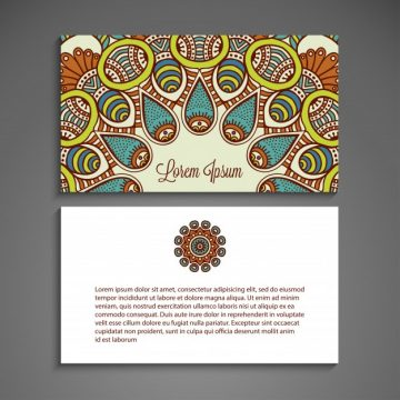 Free vector Colorful business card with mandala concept #20795