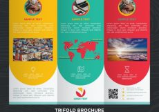 Free vector Colorful business trifold design template #21186