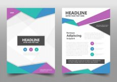 Free vector Colorful corporate book cover concept #21089