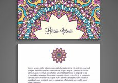 Free vector Colorful floral business card with mandala concept #20805