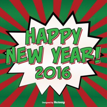 Free vector Comic Style New Year Background Illustration #22688