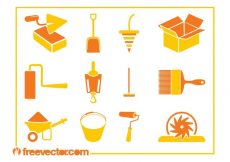 Free vector Construction Tools Icons #22378