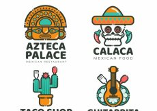 Free vector Cool pack of mexican restaurant logos #19025