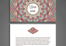 Free vector Creative business card with mandala concept #20797