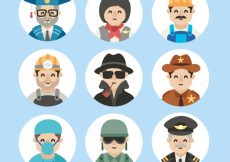 Free vector Cute pack of workers avatars #22263
