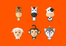 Free vector Cute Vector Animals #22194