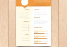Free vector Cv template in flat design  #21820