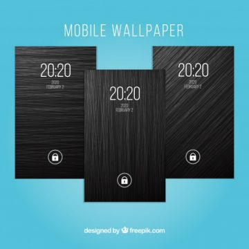 Free vector Dark mobile wallpapers pack #20277