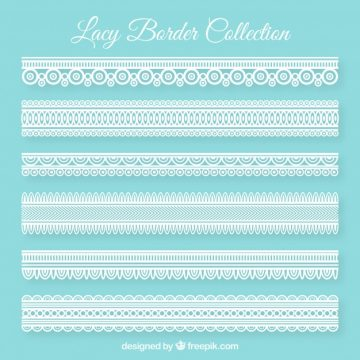 Free vector Decorative lace borders pack #20361