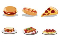 Free vector Delicious Food Vector Set #19644