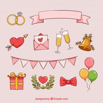 Free vector  drawing of romantic element collection #21806