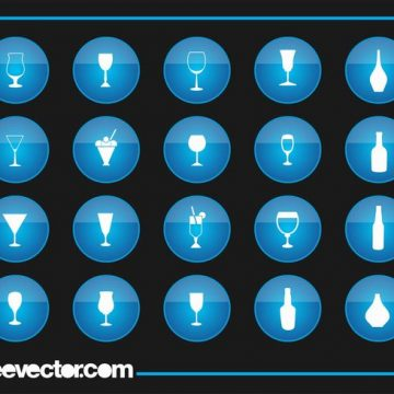 Free vector Drinks Icons #21829