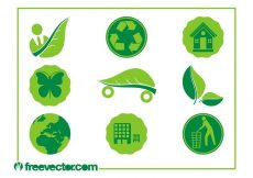 Free vector Ecology Icons Vectors #21387