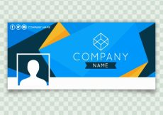 Free vector Facebook abstract blue company cover #19733