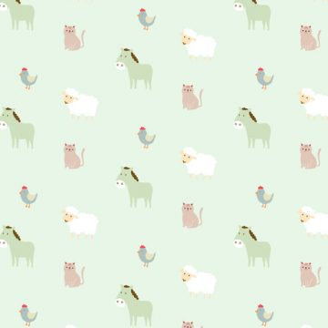 Free vector Farm Animals Pattern Background #22244