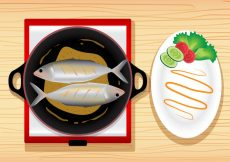 Free vector Fish Fry Meal Vector #19646