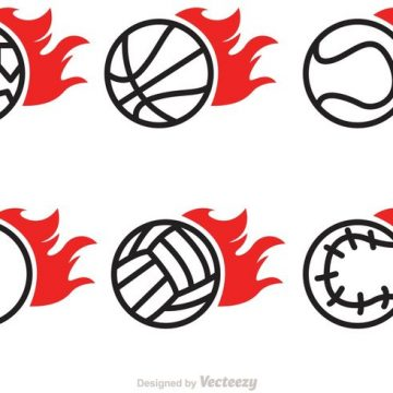 Free vector Flaming Sport Ball Vector Icons #23118