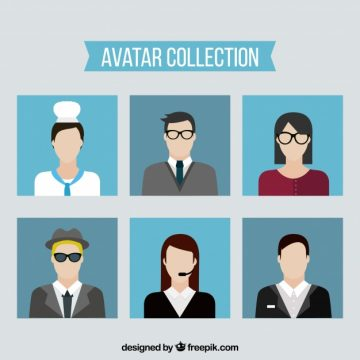 Free vector Flat avatar collection with modern style #22091
