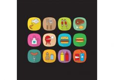 Free vector Flat Camp Food Vector Icons #19531