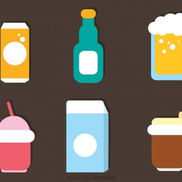 Free vector Flat Drinks Icons Vector #21861