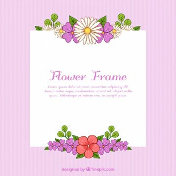 Free vector Floral frame with pink background #23175