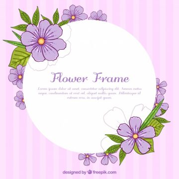 Free vector Floral frame with violet flowers #23171