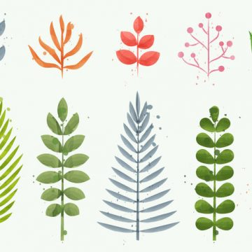 Free vector Floral Watercolor Plant Vectors #22025