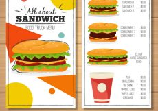 Free vector Food truck menu with variety of sandwiches #22359