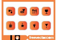 Free vector Foods And Drinks Icons Set #19642
