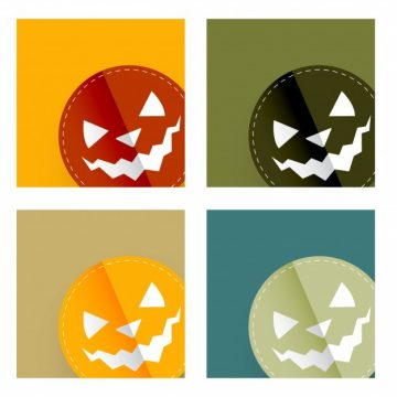 Free vector Four halloween designs in different colors #21322