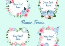 Free vector Four romantic floral frames #23177