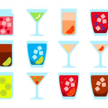 Free vector Free Alcoholic Drink Icon Vector #20430