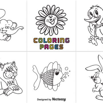 Free vector Free Animal Coloring Pages Vector #22089
