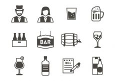 Free vector Free Bar Icons Vector #20464