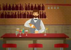 Free vector Free Barman Illustration #21859