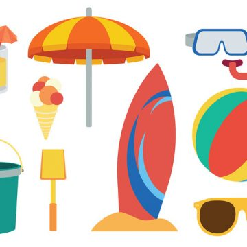 Free vector Free Beach Theme icons Vector #21026