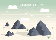 Free vector Free Beautiful Landscape Vector Backround #19943