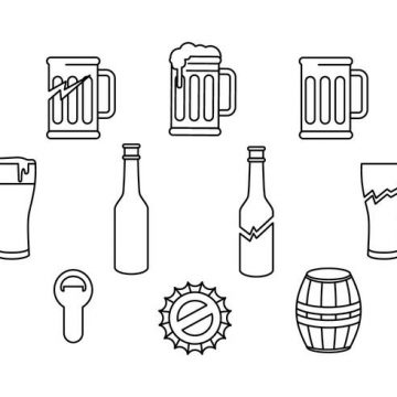 Free vector Free Beer And Baverage Icon Vector #22984