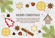 Free vector Free Christmas Elements Background Vector #21719