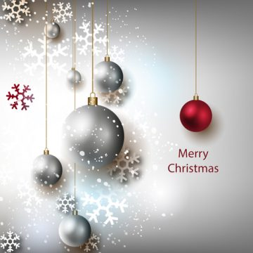 Free vector Free Christmas Grey Background Vector #22532