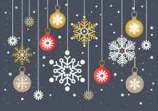 Free vector Free Christmas Snowflake Background Vector #21721